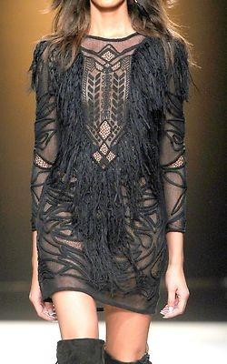 black geometric lace
