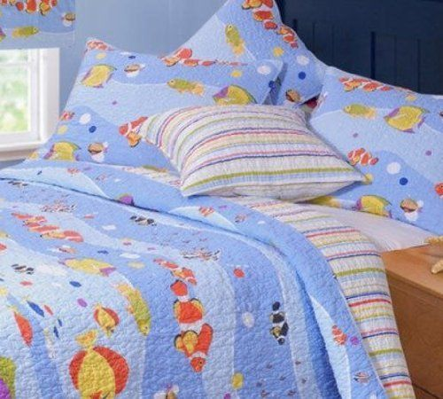 18 best images about florida bedding on pinterest for Fish bedding twin