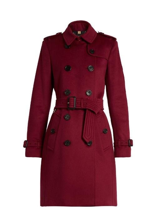 BURBERRY Kensington wool and cashmere-bend trench coat. #burberry #cloth #coat