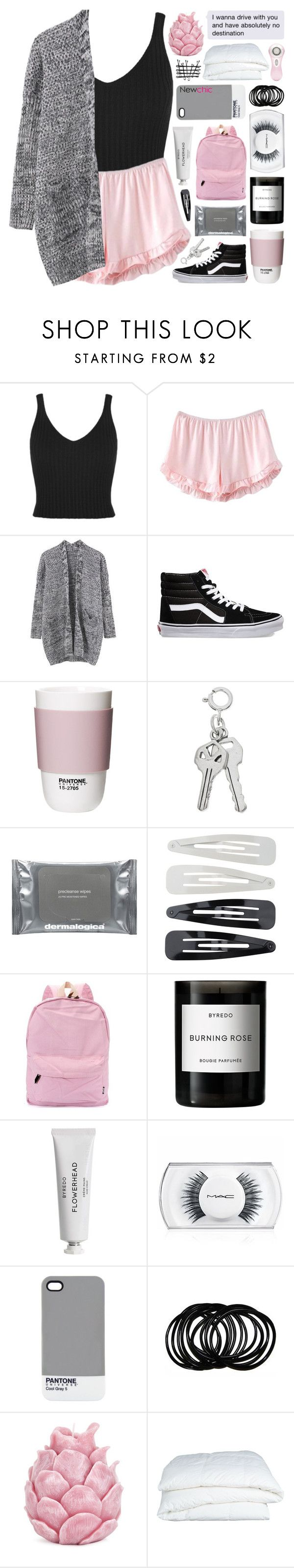 """""""Madrid. NEWCHIC"""" by untake-n ❤ liked on Polyvore featuring Vans, ROOM COPENHAGEN, Dermalogica, Forever 21, Byredo, MAC Cosmetics, Pantone, Zara Home, Crate and Barrel and Clarisonic"""