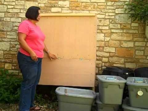 wooden flow through worm composting bin youtube