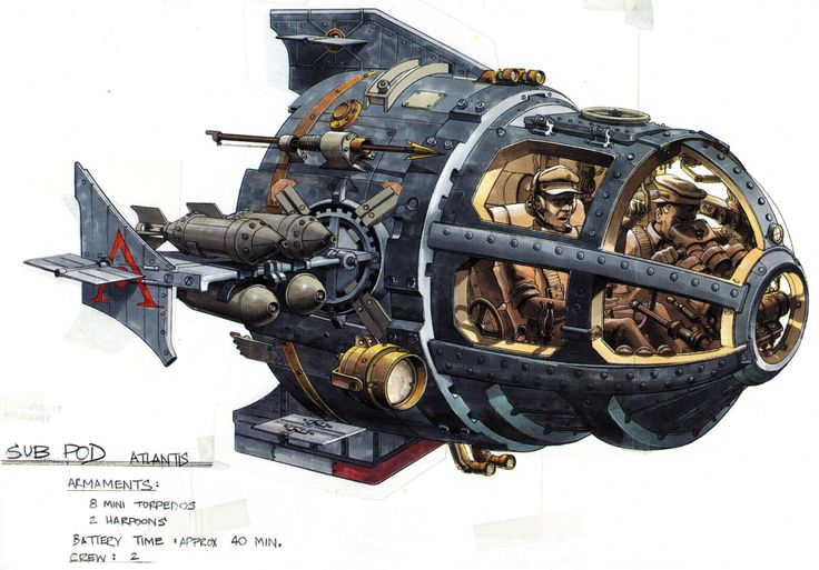 """Atlantis: The Lost Empire"" vehicle design."