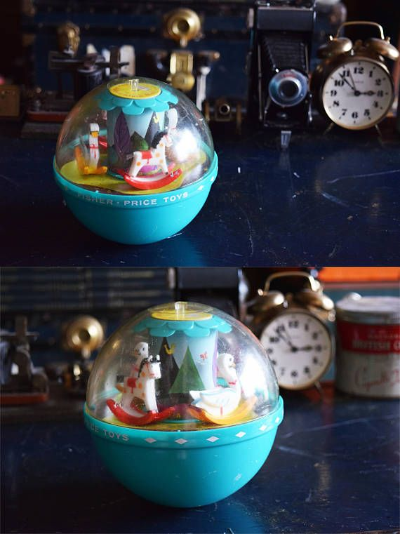 Vintage Fisher Price Roly Poly Chime Ball Childrens Toy