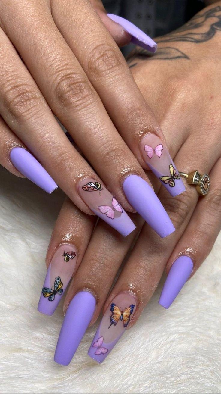 Acrylnägel Sommer 2020: Butterfly Nails sind der letzte ...