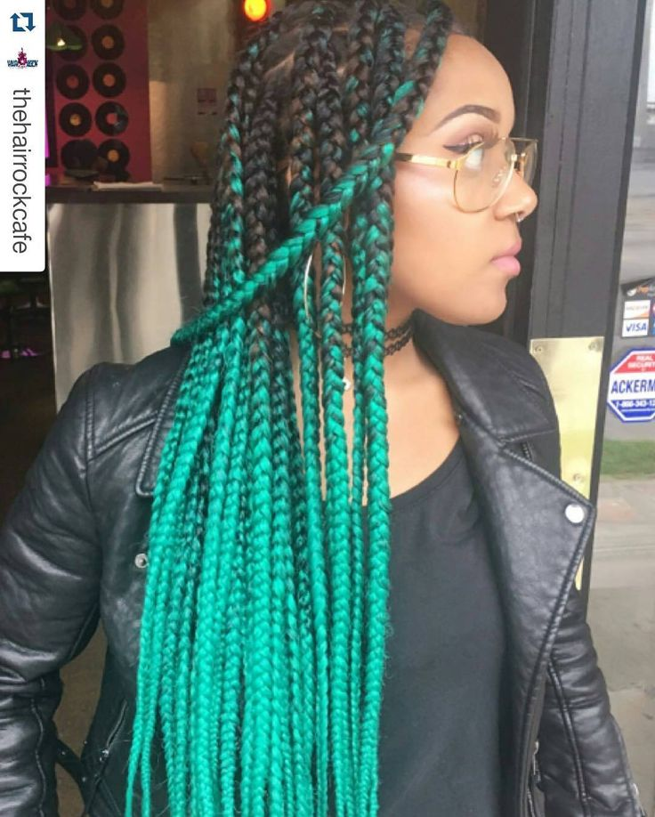 25 best ideas about colored box braids on pinterest