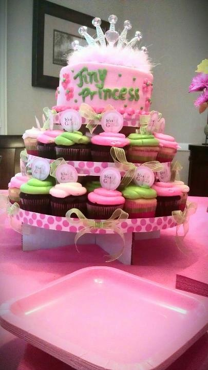 Girl baby shower cake!