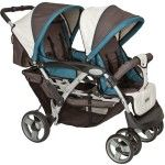Haberkorn Maxxi Tandem Pram grey blue - Collection 2015
