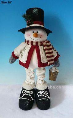 de color rojo y negro de tela de diseño de pie santa muñeco de ...