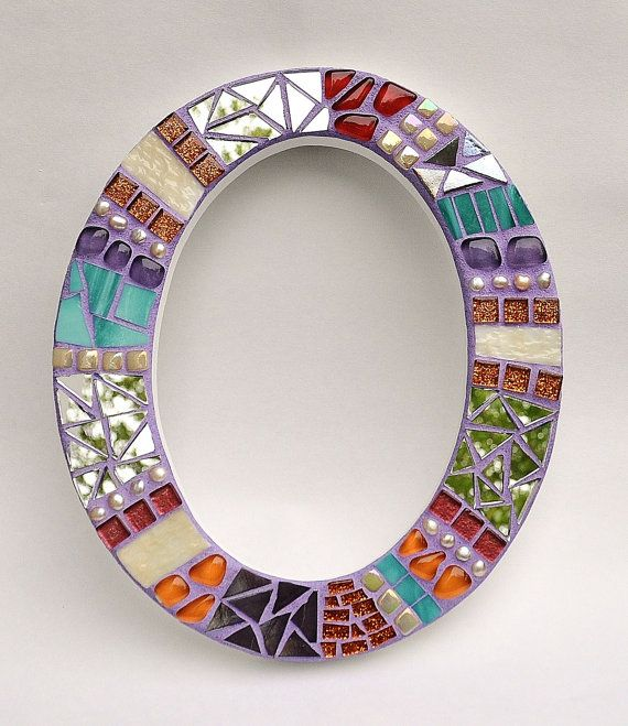 Carta O mosaico arte colgante de pared inicial por BellasArtMosaics
