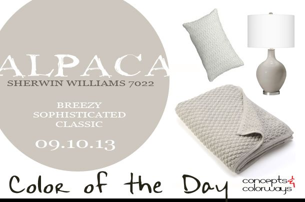 Breezy, sophisticated and classic. How would you describe Alpaca (SW 7022)?