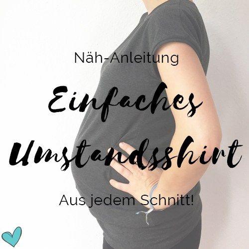 Einfaches Umstandsshirt nähen - Anleitung | norainhh.de