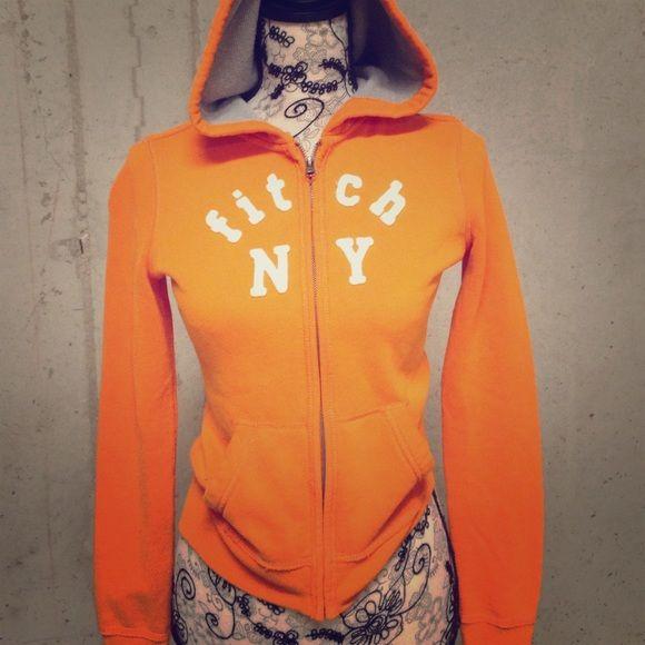 Abercrombie kids orange zip up pullover Bright orange, barely worn, Abercrombie kids jacket! Abercrombie kids Jackets & Coats