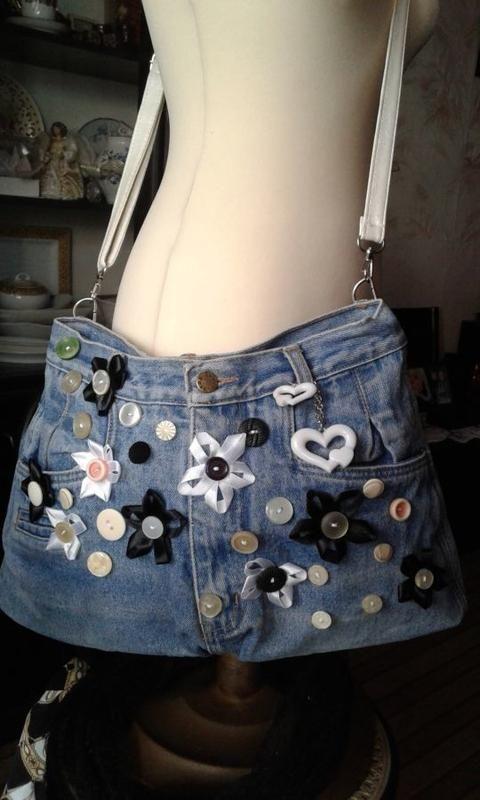 Весёлая сумка джинсовая хенд мейд за 150 грн.  3dfe96c5a218b