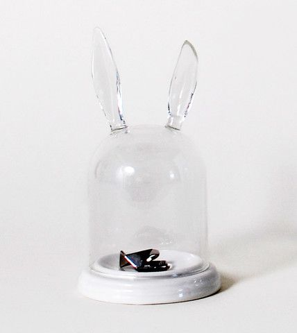 Cute and Unique Rabbit Ear Bell Jar Jewelry Ring Holder | HOTTT.COM