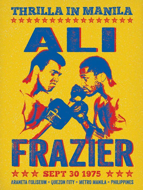 Thrilla in Manila- Print- Muhammad Ali- Joe Frazier  https://www.etsy.com/de/listing/183828313/thrilla-in-manila-kampf-poster