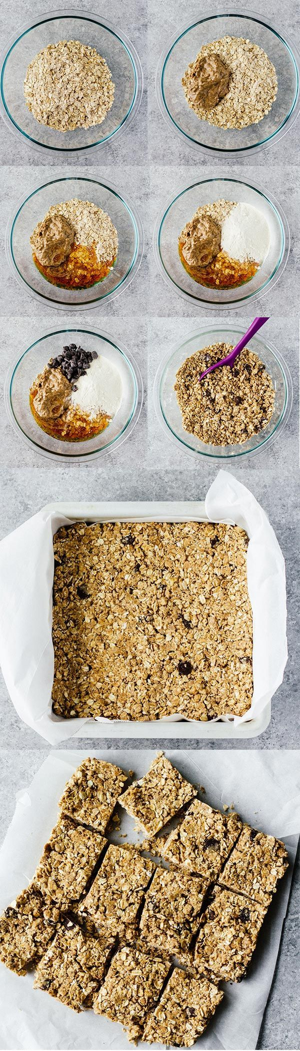 No-Bake Oatmeal Protein Bars! These are gluten free, refined sugar free, and perfect for taking on the go! This recipe is sponsored by LIFEWTR.