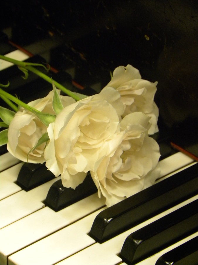 soft music and flowers...