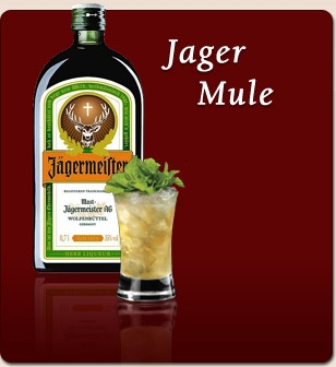 Great Drink for Summer  30ml Jagermeister  topped with Ginger Beer, Fresh lime and mint.