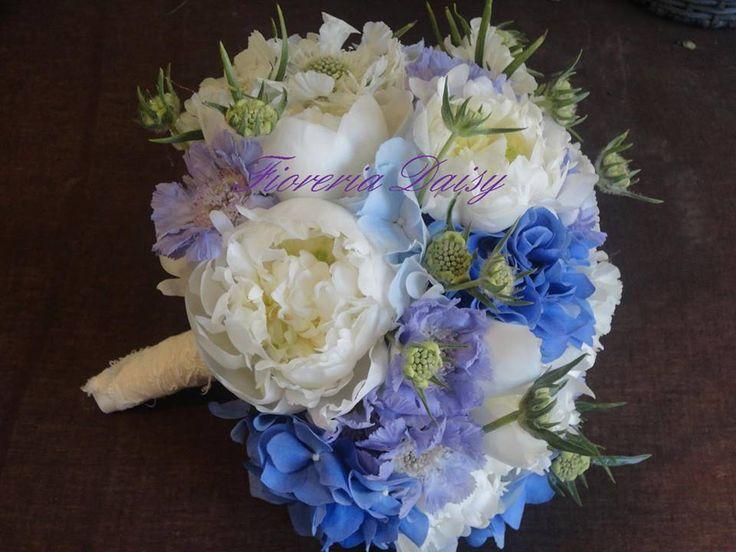 Bouquet da sposa peonie, delphinium, ortensia e scabiosa.... Wedding Bouquet peony, delphinium, Hydrangea e Scabiosa
