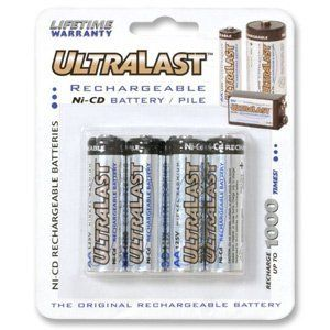 Ultralast AA Rechargeable NiCd Battery Retail Pack - 4 Pack by AMPERGEN/ULTRALAST BATTERIES. $9.32. 4 pack700mAhRecharges hundreds of timesSaves hundreds of dollars vs. alkaline batteries
