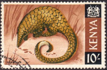 Postage Stamps Kenya 1966 Republic Animals Giant Ground Pangolin SG 34 Fine Used Scott 34 For Sale Take a look