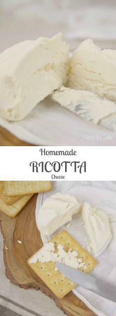 Homemade RICOTTA cheese - how-to photos and recipe in English!! You won't buy it again in your store!! Patty's Cake Food photography ------ Ricotta casera - No volverás a comprarla. Paso a paso con fotos.