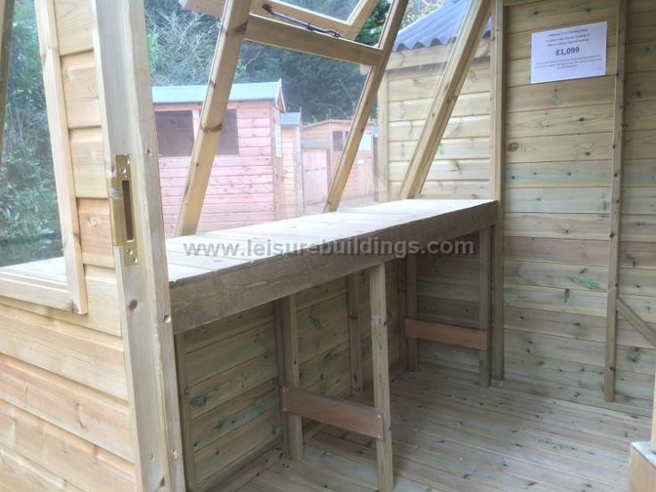 Interior of 7ft x 5ft Solar Potting Shed