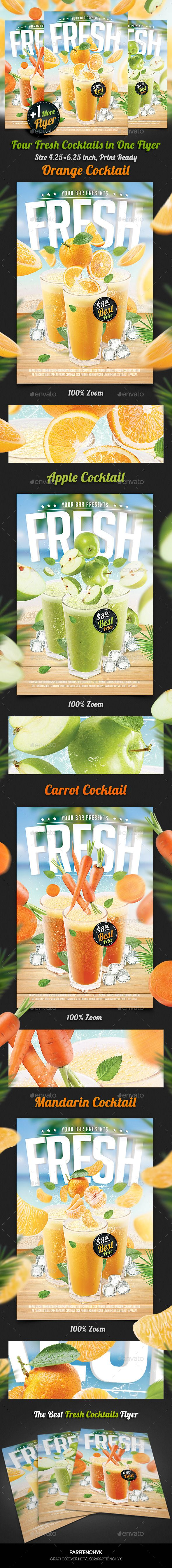 Fresh Juice Cocktail Flyer Template - Clubs & Parties Events