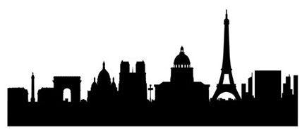 Famous Silhouette Art | Paris Skyline Wall Sticker - stylised city wall art