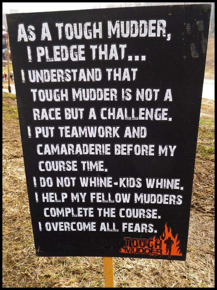 Tough Mudder Pledge....OMG I can't believe I'm really gonna do this.