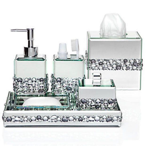 Ricci Vanity Collection   Vanity Set   Boutique Box   Bathroom Accessories    Z Gallerie   Home   Pinterest   Bathroom accessories and VanitiesRicci Vanity Collection   Vanity Set   Boutique Box   Bathroom  . Rhinestone Bathroom Accessories. Home Design Ideas