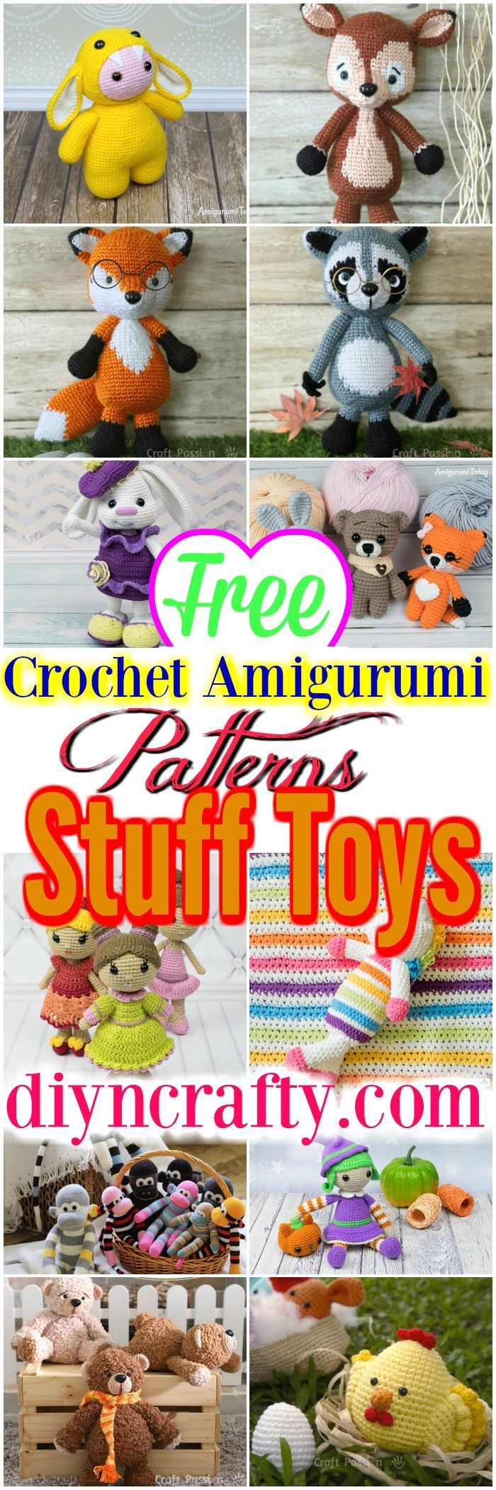 Here you will find interesting ideas and lots of free amigurumi patterns and ste…