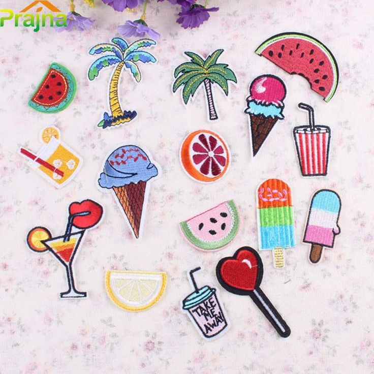 Aliexpress.com : Buy 1PCS Fruit Pizza Heart Patch Cheap Embroidered Cute Patches Kids Iron On Cartoon Patches For Clothes Diamond Rainbow Patch from Reliable iron patches for jeans suppliers on JiaYing International Trade Co., Ltd