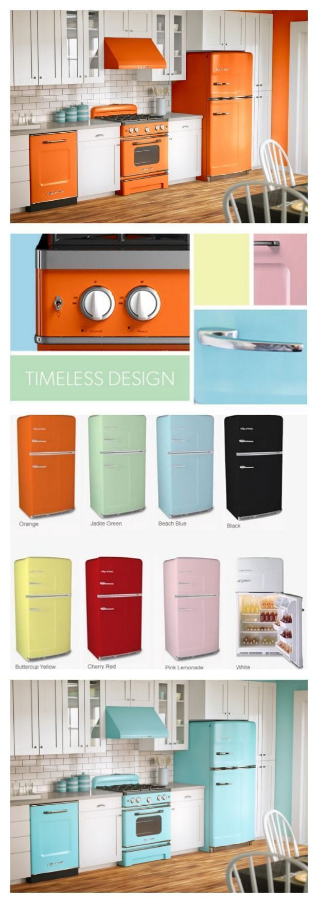 Colored Kitchen Appliances Infused With Retro Charm Are Making A Comeback