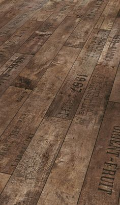 Finally found a place to buy it! Not a blog. It's not real wine crates, it's laminate flooring. Wouldn't believe this is laminate flooring.