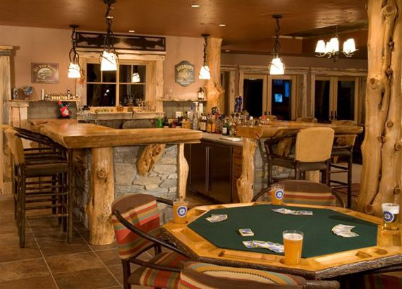 Old Western Home Bars | Full Log Home » Western Red Cedar Hand Scribe Log  Home