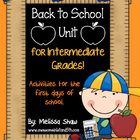 This 73 page Back to School unit is packed full of great activities and printables to get you through the first week of school in grades 3-6!  This...