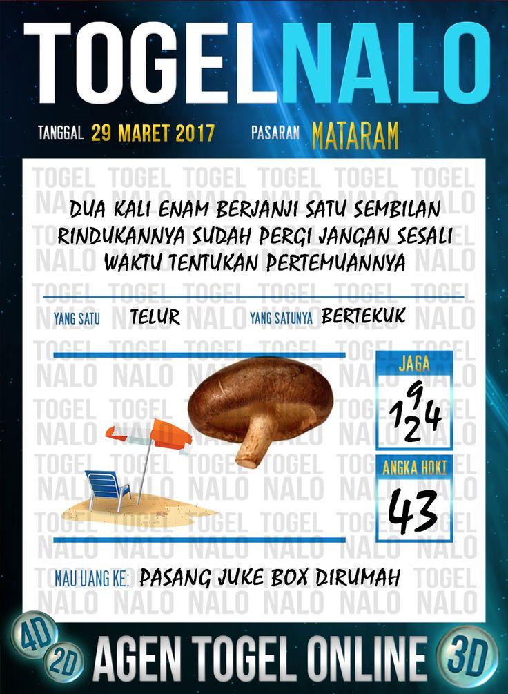 Kode Jitu 6D Togel Wap Online TogelNalo Mataram 29 Maret 2017
