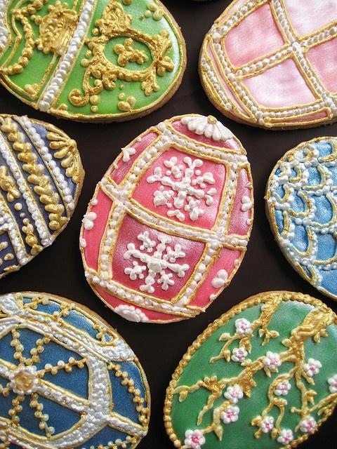 Easter cookiesCookies Art, Eggs Cookies, Faberge Eggs, Easter Recipe, Artisan Cake, Decor Cookies, Easter Eggs, Easter Food, Easter Cookies