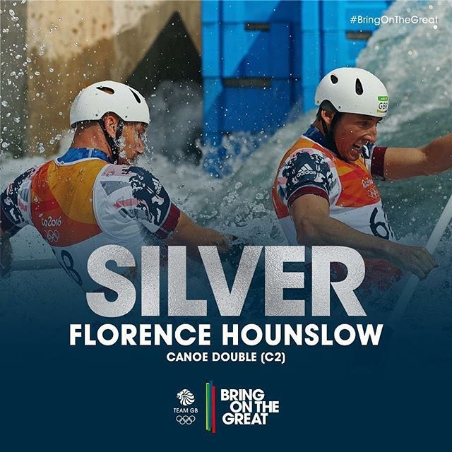 #Silver#Medal! David Florence and Richard Hounslow take Olympic silver in the Canoe Double (C2) Final. Congratulations! #CanoeSlalom #BringOnTheGreat