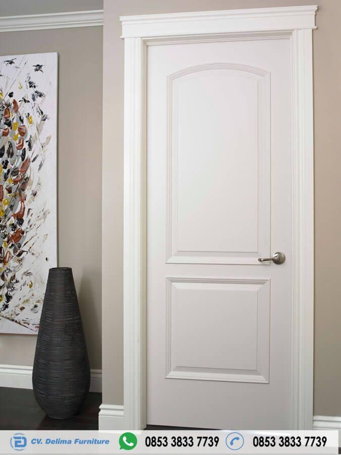 Pintu Kamar Tidur Minimalis Duco Putih Jual Kusen Daun Puntu