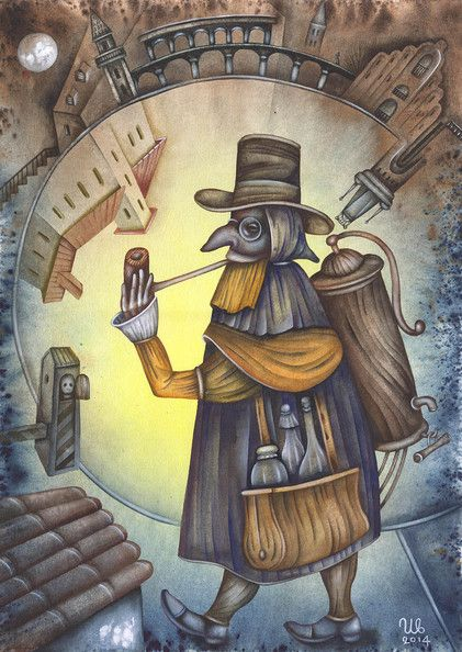 The Travel Doctor by Eugene Ivanov #cirque #circus #clown #clownery #illustration #eugeneivanov #@eugene_1_ivanov