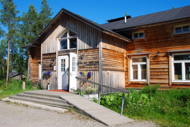 The main building from Saija Lodge in Summer, Taivalkoski, Kuusamo Lapland, Finland) www.saija.fi, info@saija.fi