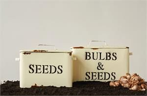 Bulbs and Seeds Metal Box Set