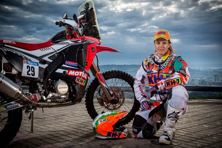 Laia-Sanz-Dakar-2015-1 Riding for Team Honda in 2015. She made a damn good showing finishing in the top 10 overall.