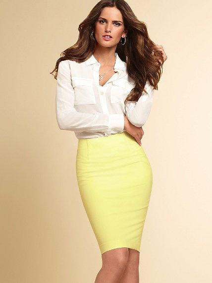 Yellow Pencil Skirt #VictoriasSecret http://www.victoriassecret.com/whats-new/clothing/basic-pencil-skirt?ProductID=95123=OLS?cm_mmc=pinterest-_-product-_-x-_-x