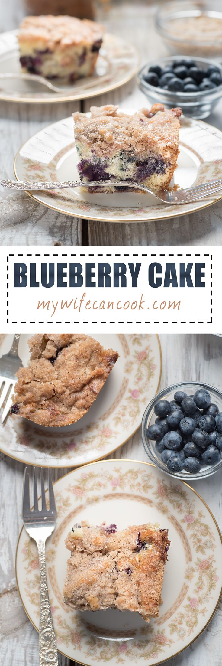Whether classified as a dessert or as coffee cake -- which, let's be honest,  is really dessert for breakfast -- this blueberry cake recipe is sure to please. It's at it's best made with fresh in season blueberries, but we'll understand if you feel the need to make it throughout the year. You might also call this a  blueberry crumble cake because of the crumble topping which is way easier to create than many think. So fix it and have a piece for dessert. Or breakfast?