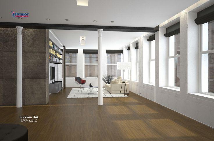 Buckskin oak lvp wood look plank flooring in 2020 luxury