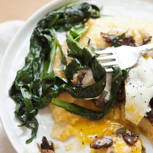 Breakfast Polenta with Wild Ramps + Mushrooms — a Better Happier St ...