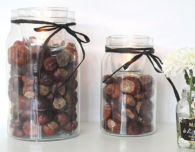 DIY Kastanien Deko | Herbstdekoration | home crafts | chestnut decoration | house decor | was eigenes Blog